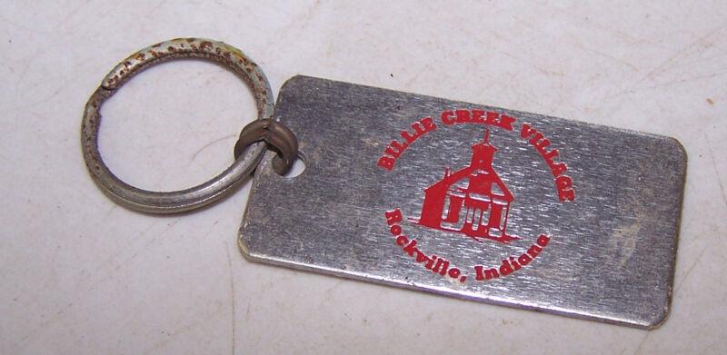 Vintage BILLIE CREEK VILLAGE Keychain ROCKVILLE INDIANA
