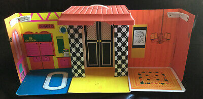 VINTAGE 1968 BARBIE FAMILY HOUSE MATTEL 1066 WITH FURNITURE RARE FIND!