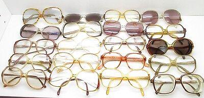 SET of 20 VINTAGE WOMENS OVERSIZED EYEGLASSES FRAMES eyewear bulk lot TV6 S103