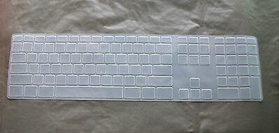 Clear Silicone Keyboard Cover Skin for imac US Version Apple Desktop PC