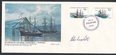 Australian Antarctic Territory (1981) *1st DAY COVER SIGNED BY MIKE KNOX-LITTLE*