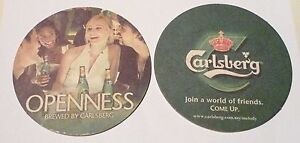 MALAYSIA-Beer-Mat-Coaster-CARLSBERG-Melody-OPENNESS-2007-Party-Design