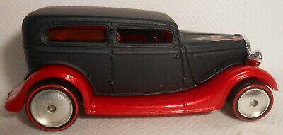 Hot Wheels Garage Series 1934 Ford Sedan Black with Rubber Tires Signed Loose