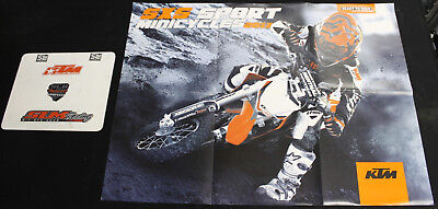 NEW OLD STOCK KTM SXS SPORT MINICYCLES 2013 DIRT BIKE POSTER MOTORCYCLE PIT BIKE