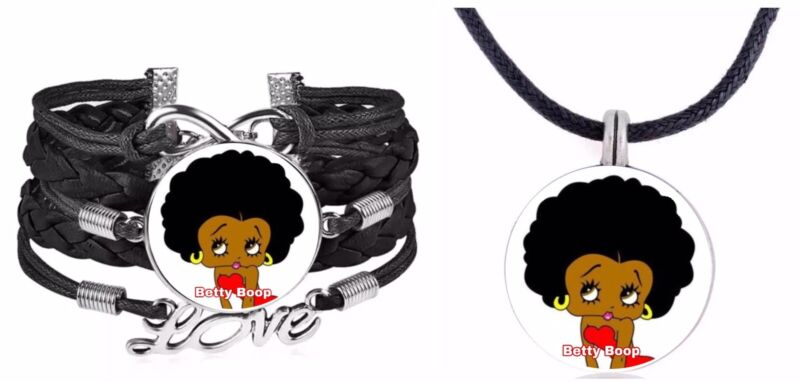 Betty Boop Bracelet And Necklace Set