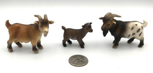 Schleich DWARF PYGMY GOAT FAMILY Billy Kid Nanny Farm Animal 13602 13601 Retired