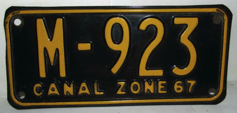 1967 Panama Canal Zone Motorcycle License Plate