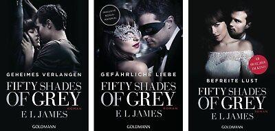 Shades Fifty Shades of Grey Die Bücher zum Film von E L James Geheimes Verlangen