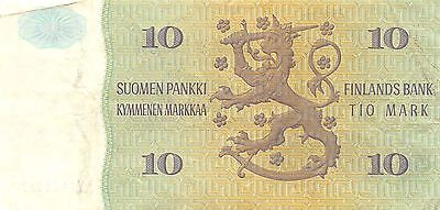 Finland 10 Markkaa 1980  series Y circulated Banknote 2D