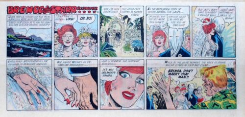 Brenda Starr by Dale Messick - lot of 17 color Sunday comic pages early 1965