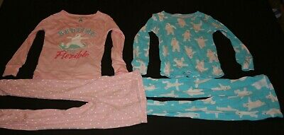 Carters Eisbär (Neu Carter's Mädchen 4 Stück Pyjama 4t Schlafanzüge 2 Oberteile & 2 Hose Eisbär)