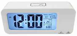 Smart RECHARGEABLE Snooze Alarm Digital Blacklight Display Clock Led Time