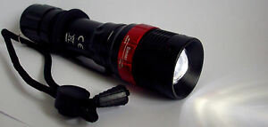Bright-7w-300-Lumen-LED-Torch-flash-light-Adjustable-Focus-AAA-batteries-incl