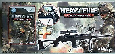 Heavy Fire Afghanistan Pack jeu Vidéo Nintendo Wii + Fusil D