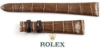 ROLEX Krokodil-Leder-Armband 15/10 mm - ungetragen - Versand nur EU 1980er Jahre