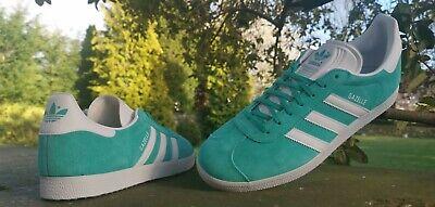 Adidas Originals Gazelle Fashion Trainers Turquoise Sizes UK 5 -11 BNIBWT