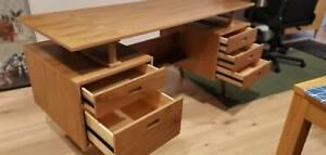 Retro Scandinavian style office desk