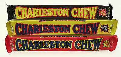 Charleston Chew 3 Flavor Mix - 24ct Bar - Chewy Flavored Nougat  FREE SHIPPING