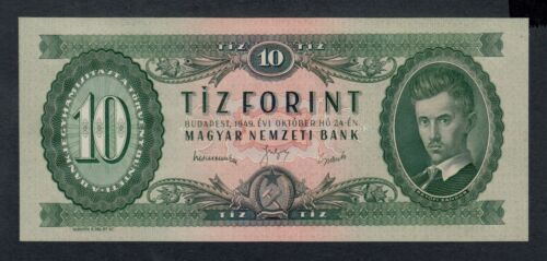 HUNGARY  10  FORINT 1949  PICK # 164a  UNC.