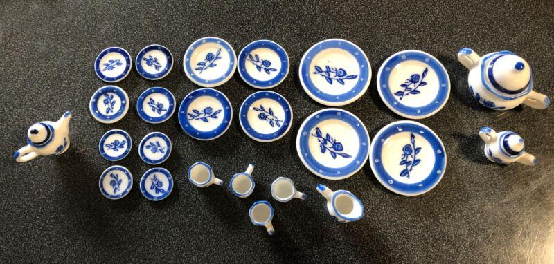 Dolls House 1:12 China Tea Set