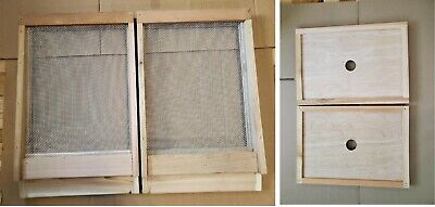 2 Cedar Bee Hive Screened Bottom Boards And 2 Inner Covers--langstroth 8 Frame
