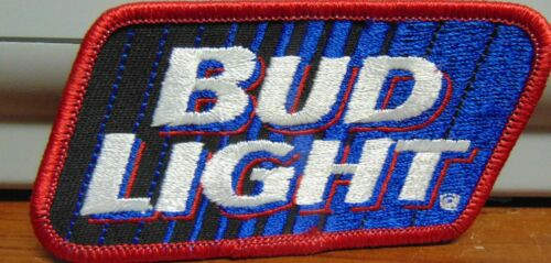 """Vintage Bud Light Budweiser Beer Advertising Patch 4"""" x 2"""" New"""