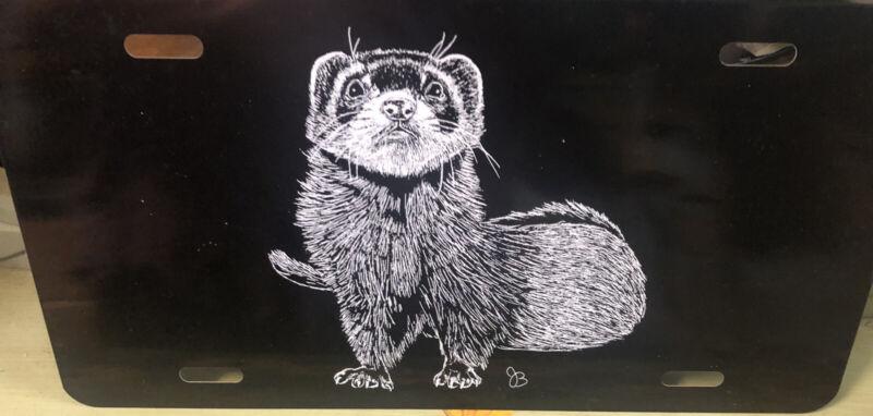 Ferret  Vanity Animal Novelty Car & Truck Tag License Plate Artwork