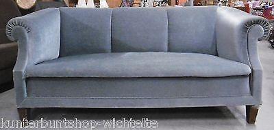 KLASSIKER 50er J Designer 2er Stil Sofa Polstercouch Couch Samtbezug Divan TOP