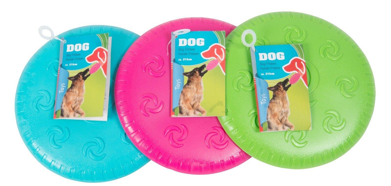 Hunde-Frisbee Hundespielzeug Frisbee Wurfscheibe 16cm Hund Spielzeug NEU