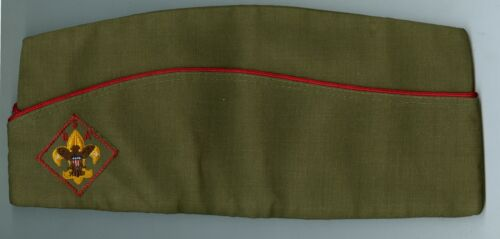 EXCELLENT Older Official Boy Scout Polywool Khaki Field HAT - SIZE EXTRA LARGE