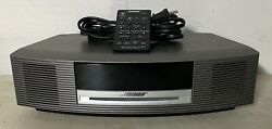 Bose Wave Radio Titanium AM/FM CD Player/Alarm Clock AWRCC1 w/ Remote MINT!