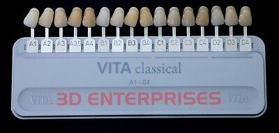 Set Of 3 Pc Vita Classical Dental Shade Guide Original