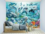 Nieuw:Onderwater behang Under the Sea.  Dolfijn, Orka behang