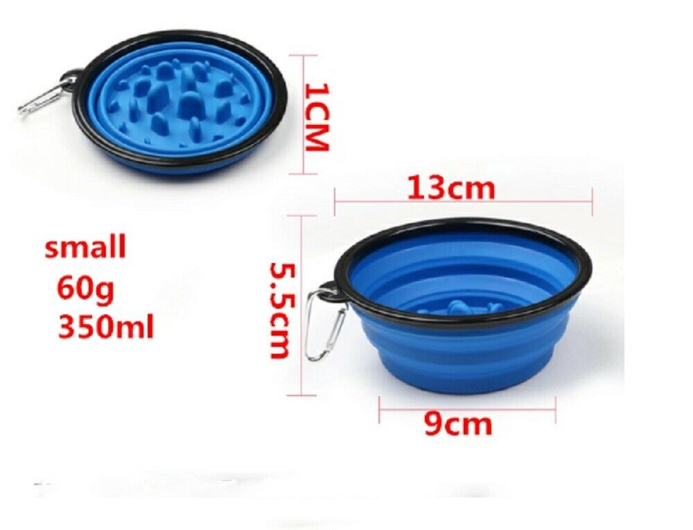 1 Collapsible Pet Dog Cat Interactive Slow Food Bowls Portable Slow Feeder Dish Dishes, Feeders & Fountains
