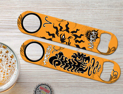 Zodiac Aries Birth Sign Personalized Bartender Bar Blades Speed Bottle Openers Aries Zodiac Personality