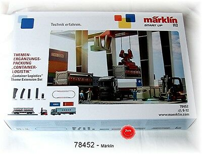 Märklin Extension Set 78452 Containerlogistik Fits 29452 #New Original Packaging