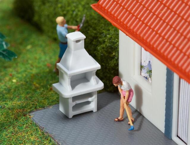 2 Gartengrills, Faller Modell Bausatz Miniaturwelten H0 (1:87), Art. 180902