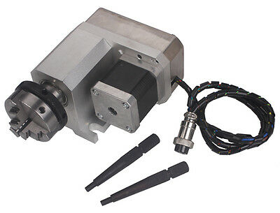 Cnc Router Rotational Rotary Axis 50f Style A-axis 4th-axis 3-jaw Scroll Chuck