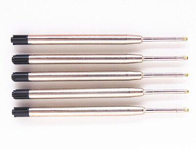 5Pcs JINHAO Black Ball Point Pen Ink Refills Medium Nib New Free shipping