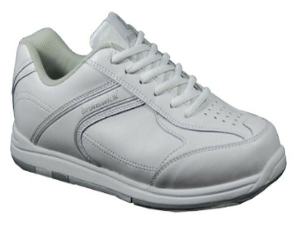 Boys Brunswick Flyer White Bowling Shoes Size 5