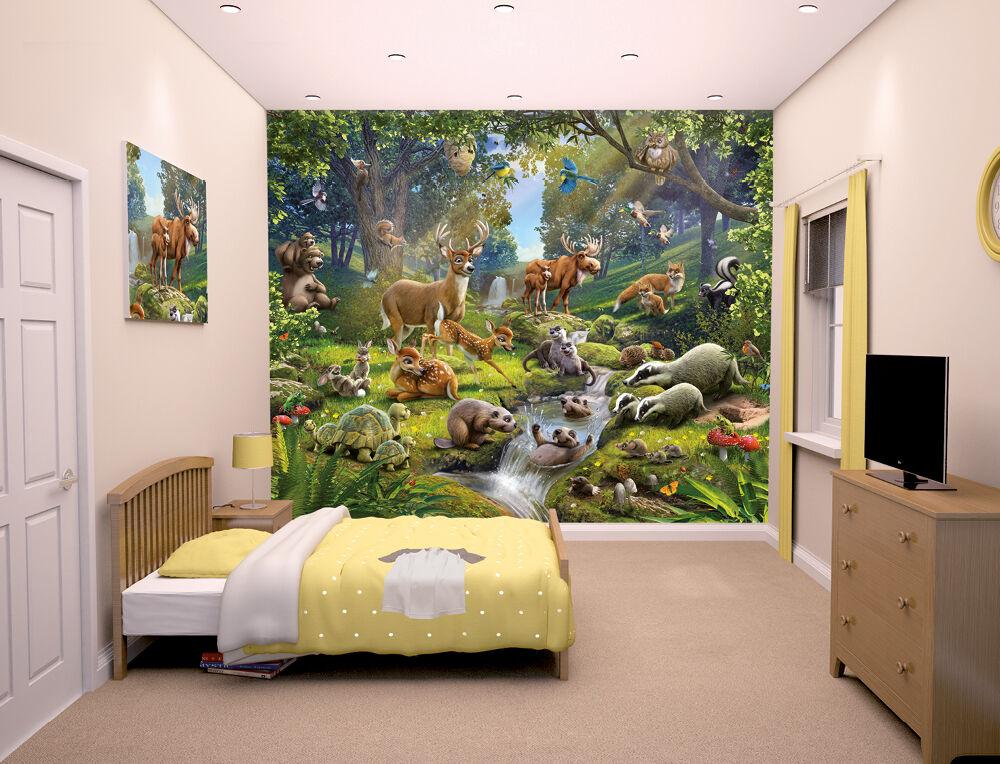 Animals Of The Forest Walltastic Wallpaper Mural For Kids Bedrooms EBay
