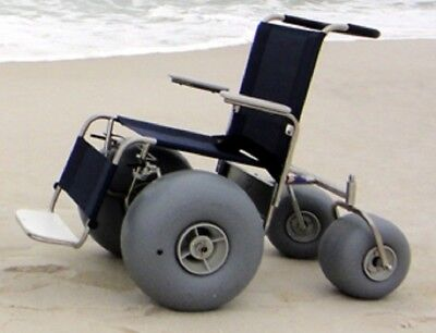 NEW DeBug All Terrain Chair Rolling Beach Stainless Steel Wheelchair