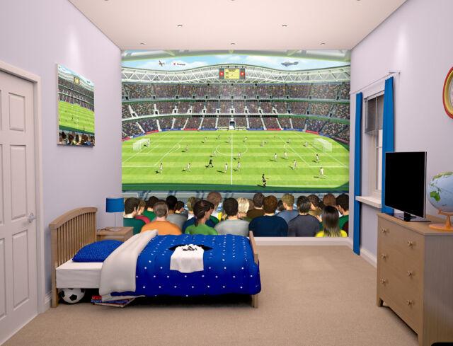 Football Crazy Walltastic Wallpaper Mural for Kids Bedrooms