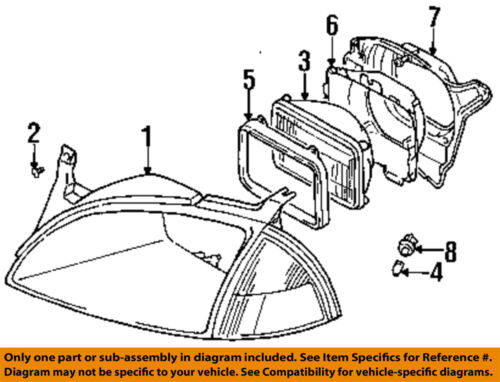 GM OEM Headlamp-Front Lamps-Retainer Ring Left 96063691