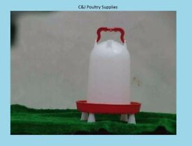 NEW CHICKEN POULTRY COMBINATION DRINKER 12 LITRE WITH LEGS