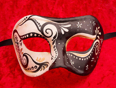 Mask from Venice Colombine Ornella Paper Mache -creation artisanale-2137 - V3B
