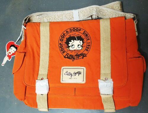 New BETTY BOOP Licensed Messenger Bag (Orange color) US Seller