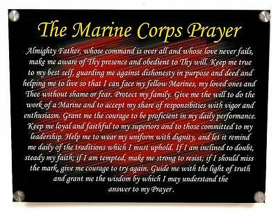 The Marine Corps Prayer Metal Wall Art Decor - with Matching 8x10 print