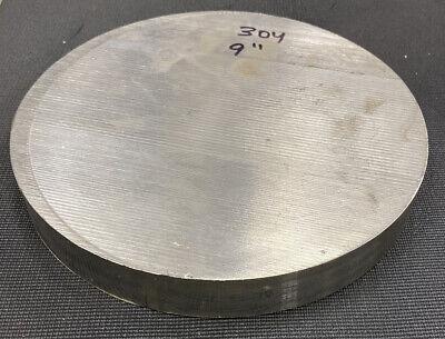 9 Diameter 304 Stainless Steel Round Bar Stock - 9 X 1.1875 Length