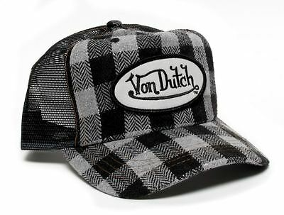 Authentic Brand New Von Dutch Black/Gray Flannel Cap - Flannel Cap